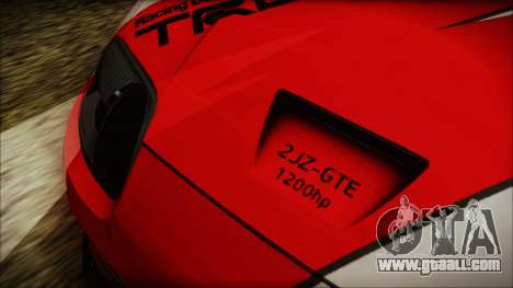 Toyota Supra JZA80 Kantai Collection Haruna PJ for GTA San Andreas inner view