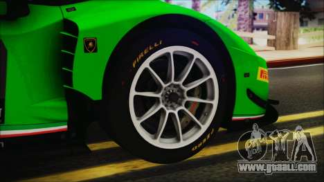Lamborghini Huracan 610-4 GT3 2015 for GTA San Andreas back left view