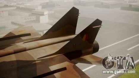 Mikoyan MiG-31 Yuktobanian Air Force for GTA San Andreas back left view