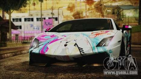 Lamborghini Gallardo LP570-4 2015 Miku Racing 4K for GTA San Andreas