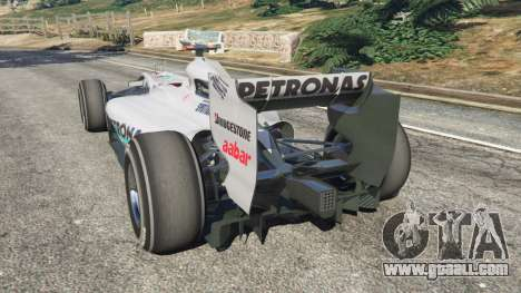 GTA 5 Mercedes-Benz MGP W01 [Michael Schumacher] v1.1 rear left side view