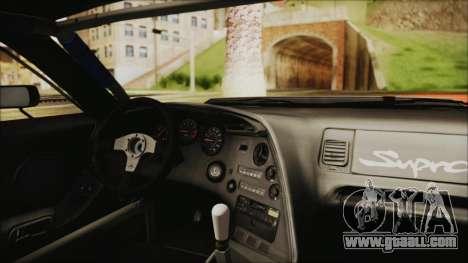 Toyota Supra JZA80 Kantai Collection Haruna PJ for GTA San Andreas back view