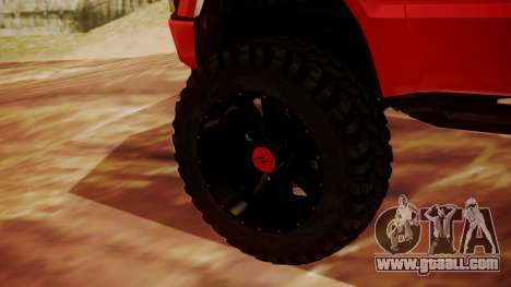 Ford F-350 2010 Lifted Sema Show for GTA San Andreas back left view