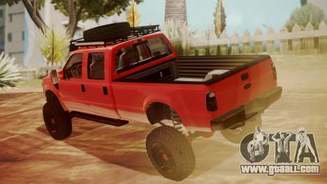 Ford F-350 2010 Lifted Sema Show for GTA San Andreas left view