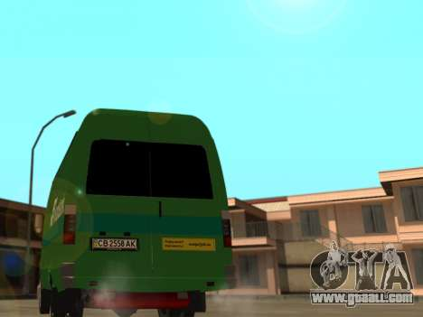GAZelle 2705 Privat v2 for GTA San Andreas back left view