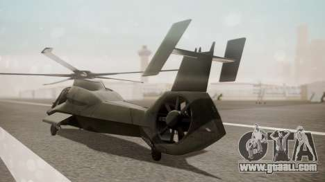 AH-99 Blackfoot for GTA San Andreas left view