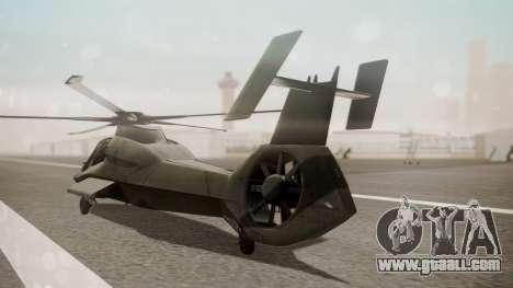 AH-99 Blackfoot for GTA San Andreas left view