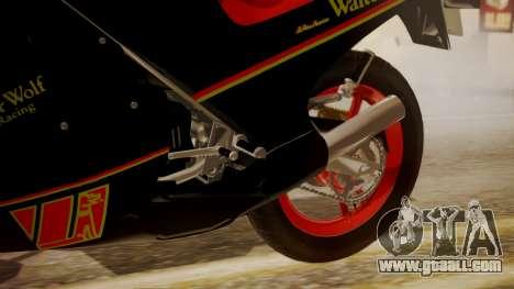 Suzuki RG 250G Walter Wolf for GTA San Andreas right view