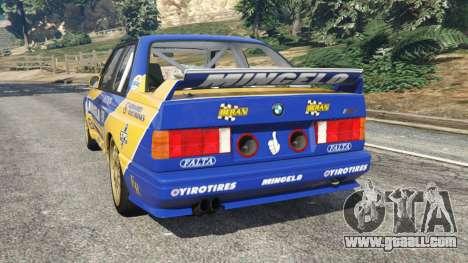 GTA 5 BMW M3 (E30) 1991 [Mingelo] v1.2 rear left side view