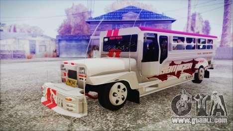 Hataw Motor Works Jeepney for GTA San Andreas