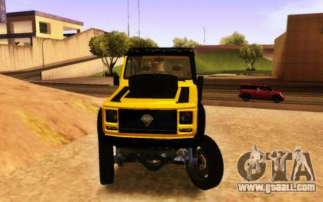 Benefactor Dubsta 6x6 Custom Tuning for GTA San Andreas right view