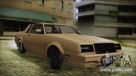 GTA 5 Willard Faction Custom Bobble Version for GTA San Andreas back left view