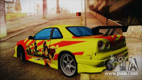 Nissan Skyline Street Racing Syndicate for GTA San Andreas left view