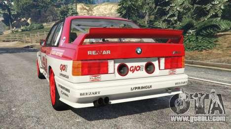 GTA 5 BMW M3 (E30) 1991 [Suei] v1.2 rear left side view
