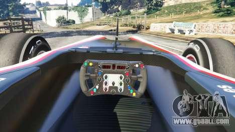 GTA 5 Hispania F110 (HRT F110) v1.1 rear right side view