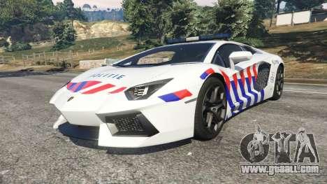 GTA 5 Lamborghini Aventador LP700-4 Dutch Police v5.5 right side view