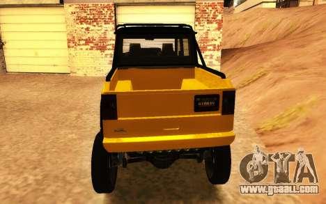 Benefactor Dubsta 6x6 Custom Tuning for GTA San Andreas back left view