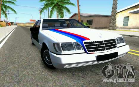 Mercedes-Benz W140 for GTA San Andreas inner view