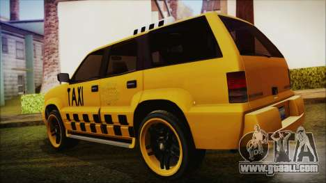 Albany Cavalcade Taxi (Hotwheel Cast Style) for GTA San Andreas left view