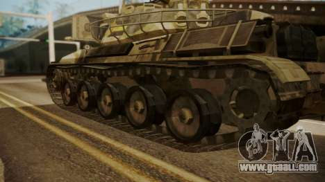 AMX 30 from Mercenaries 2 World in Flames for GTA San Andreas back left view