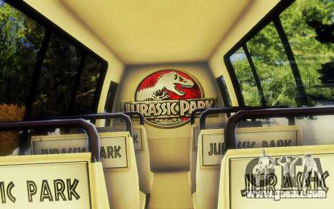 Jurassic Park Tour Bus for GTA San Andreas right view