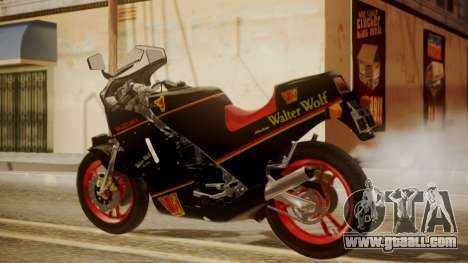 Suzuki RG 250G Walter Wolf for GTA San Andreas left view