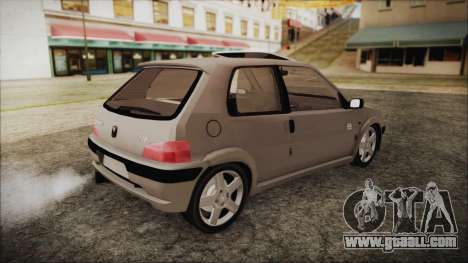 Peugeot 106 for GTA San Andreas back left view
