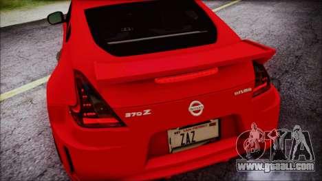 Nissan 370Z Nismo 2010 Angel Beats Itasha for GTA San Andreas bottom view