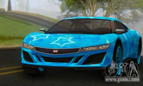 Dinka Jester (GTA V) Blue Star Edition for GTA San Andreas right view