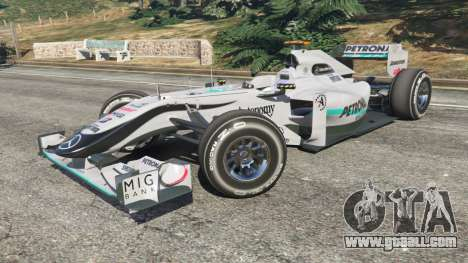 GTA 5 Mercedes-Benz MGP W01 [Michael Schumacher] v1.1 right side view