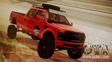 Ford F-350 2010 Lifted Sema Show for GTA San Andreas right view
