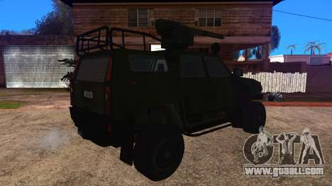 Komatsu LAV 4x4 with Vulcan Gatling Gun for GTA San Andreas left view
