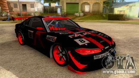 Nissan S15 Drift for GTA San Andreas back view