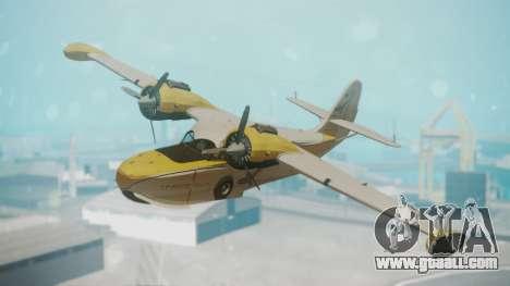 Grumman G-21 Goose WhiteYellow for GTA San Andreas