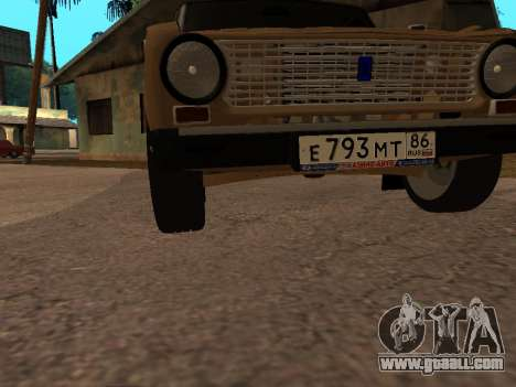 Vaz 2101 V1 for GTA San Andreas bottom view