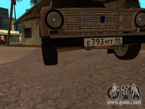 Vaz 2101 V1 for GTA San Andreas bottom view