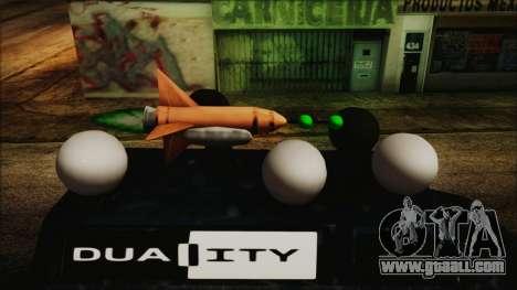 Duality Van - Furgoneta Duality for GTA San Andreas back left view