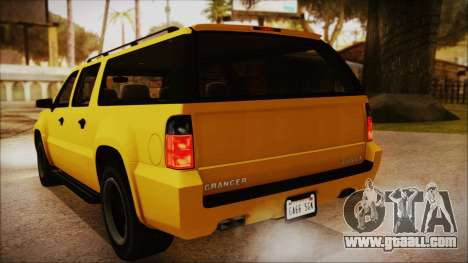 GTA 5 Declasse Granger IVF for GTA San Andreas inner view