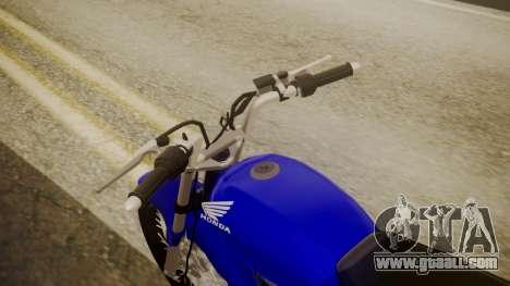 Honda CB1 for GTA San Andreas back view