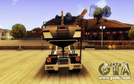 GTA V Big Boat Trailer for GTA San Andreas back left view