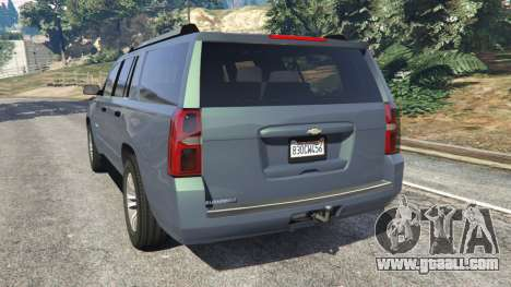 GTA 5 Chevrolet Suburban 2015 [unlocked] rear left side view