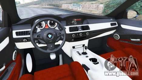 GTA 5 BMW M5 (E60) v1.1 right side view