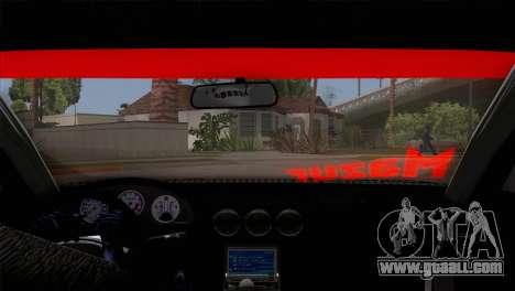 Nissan S15 Drift for GTA San Andreas inner view