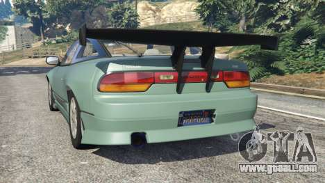 GTA 5 Nissan 240SX rear left side view