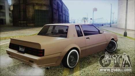 GTA 5 Willard Faction Custom Bobble Version for GTA San Andreas left view
