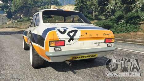 Ford Escort MK1 v1.1 [Carrillo] for GTA 5