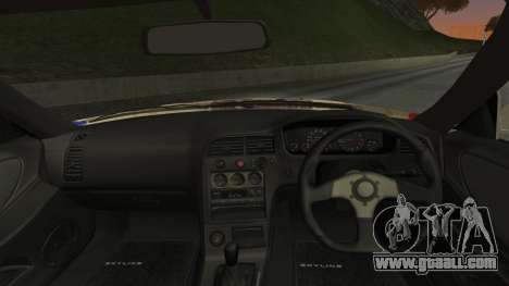 Nissan Skyline R33 Kantai Collection Kongou for GTA San Andreas back left view
