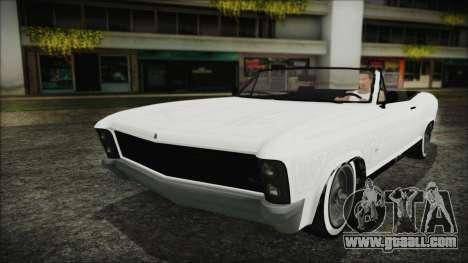 GTA 5 Albany Buccaneer Custom for GTA San Andreas inner view