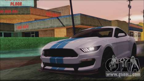 Ford Mustang Shelby GT350R 2016 for GTA San Andreas inner view