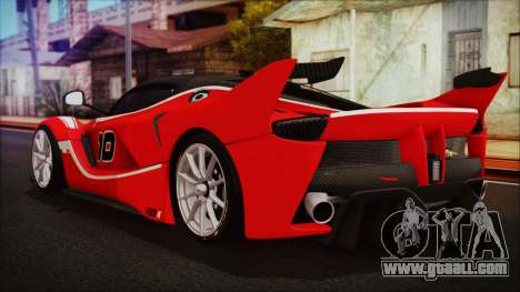 Ferrari FXX K 2016 v1.1 [HQ] for GTA San Andreas left view